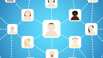 Scheme of social network on blue